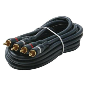 Steren Dual Rca Stereo Cable (3ft)