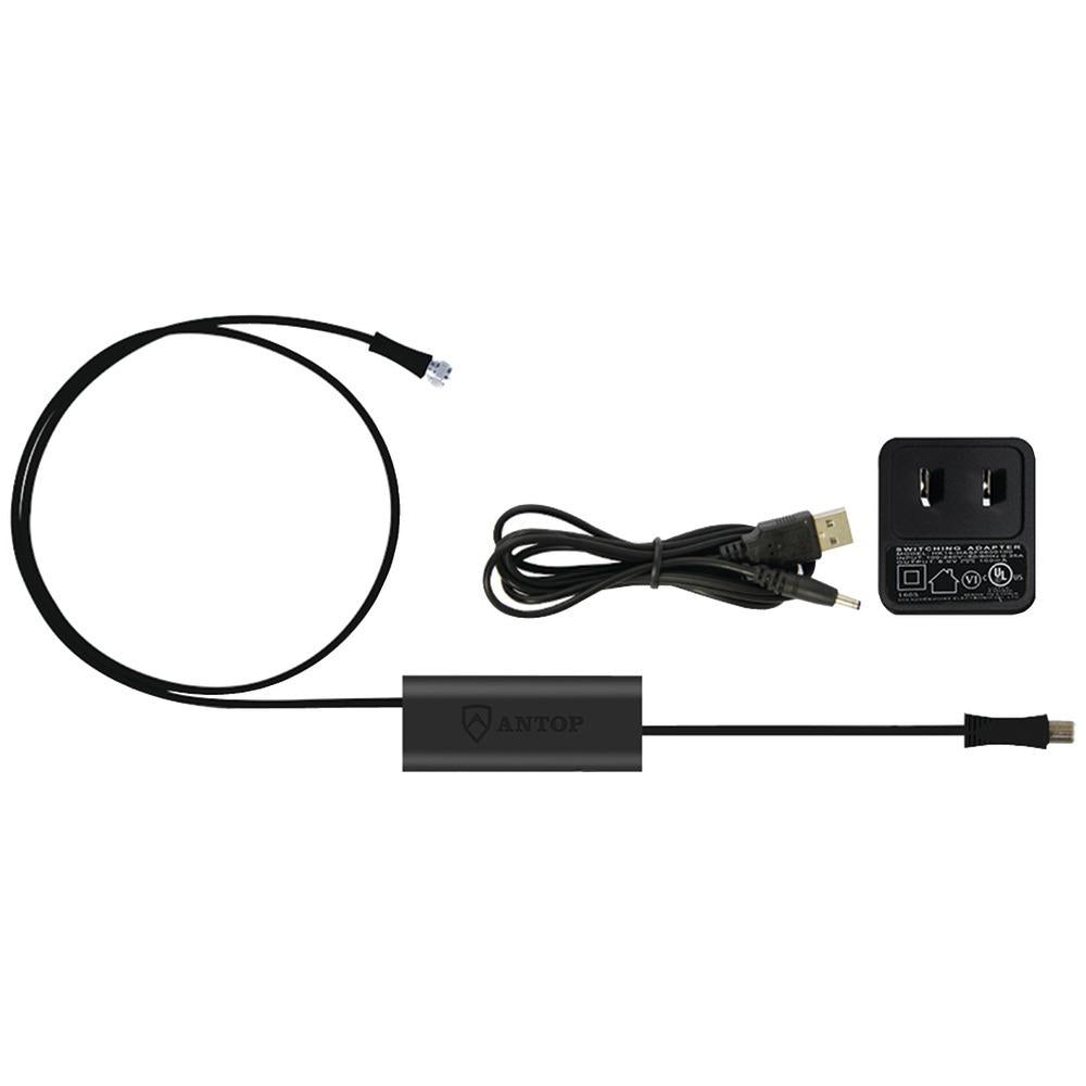 ANTOP Antenna Inc. Smartpass Amp with 4G LTE Filter & Power Supply Kit (Black)