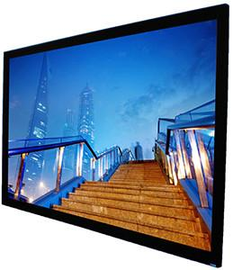 "Image of Seymour AV 97.5"" - 149.2"" , 16:9, Glacier Gray Material, 0.8 Gain, Precision Frame, Fixed Frame Projection Screen, Seymour AV - Projection Supply"