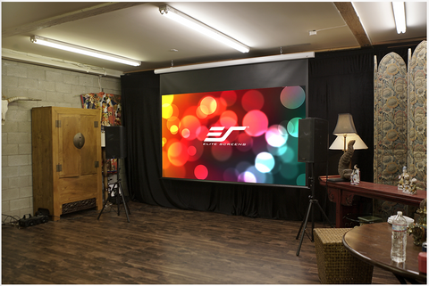 Image of Elite Screens Saker B Series - Electric Screens - Wall/Ceiling