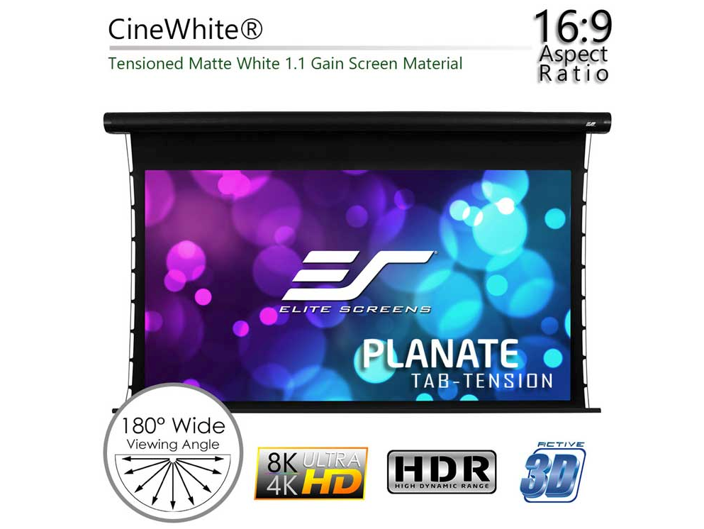Elite Screens Planate Tab-Tension B Series - Best Home Projector