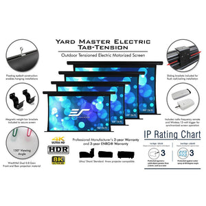 Elite Screens Yard Master Electric Tension Series