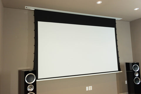 Image of Elunevision Ref Studio AudioWeave 4K In-Ceiling Tab-Tensioned Screen