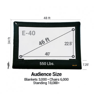 Image of Elite Outdoor Movie Screen Kit
