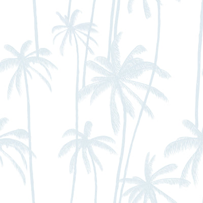 California Palms in Cool Blue