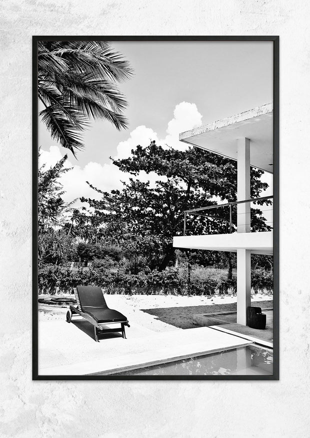 Lonely Deck Chair By The Pool