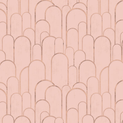 Rose Gold Archways on Deep Blush
