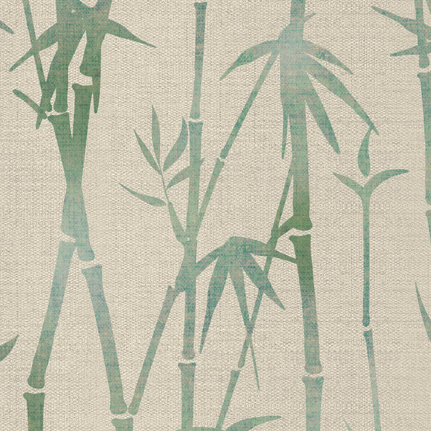 Green Bamboo on Hessian