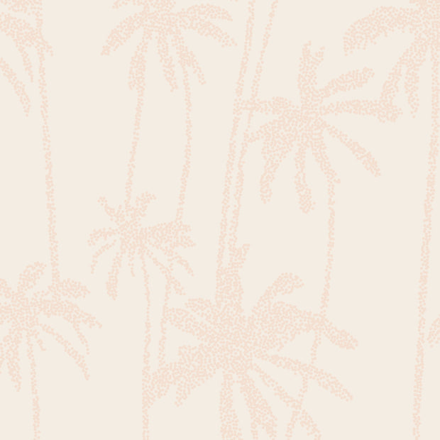 Mosaic Palms in Salmon Pink