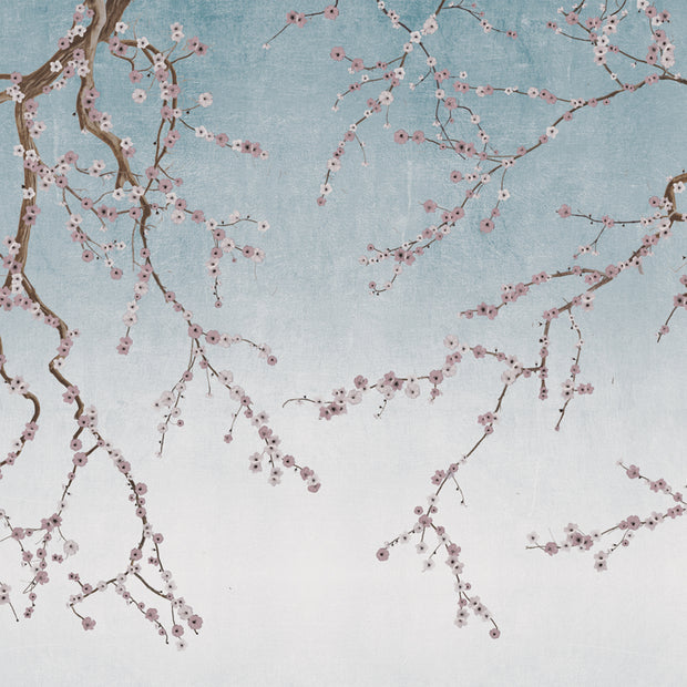 Cherry Blossoms on Ice Blue