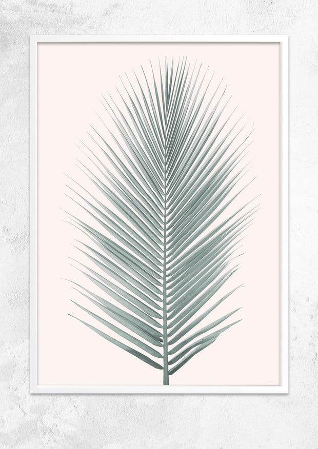 Silver Coconut Palm Leaf