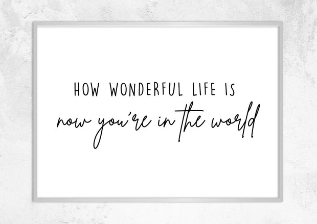How Wonderful Life Is No I