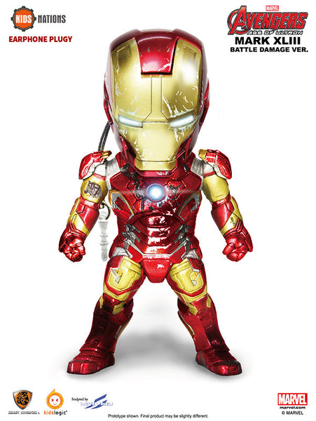 Kids Nation Iron Man MKXLIII Battle Damage Ver Earphone Pluggy