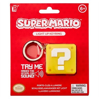 Super Mario Bros Question Block Keyring