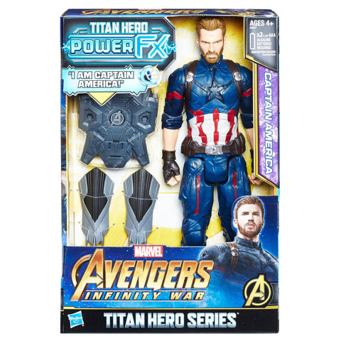 Hasbro Marvel Avengers Infinity War Titan Hero Power Captain America