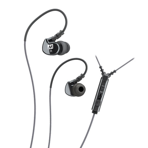 MEE audio Sport-Fi M6P Memory Wire In-Ear Headphones with Microphone, Remote, and Universal Volume Control