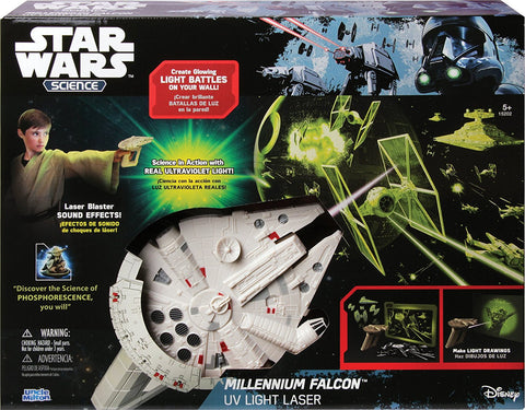 "Millenium Falcon UV Light Laser (12""x20"")"