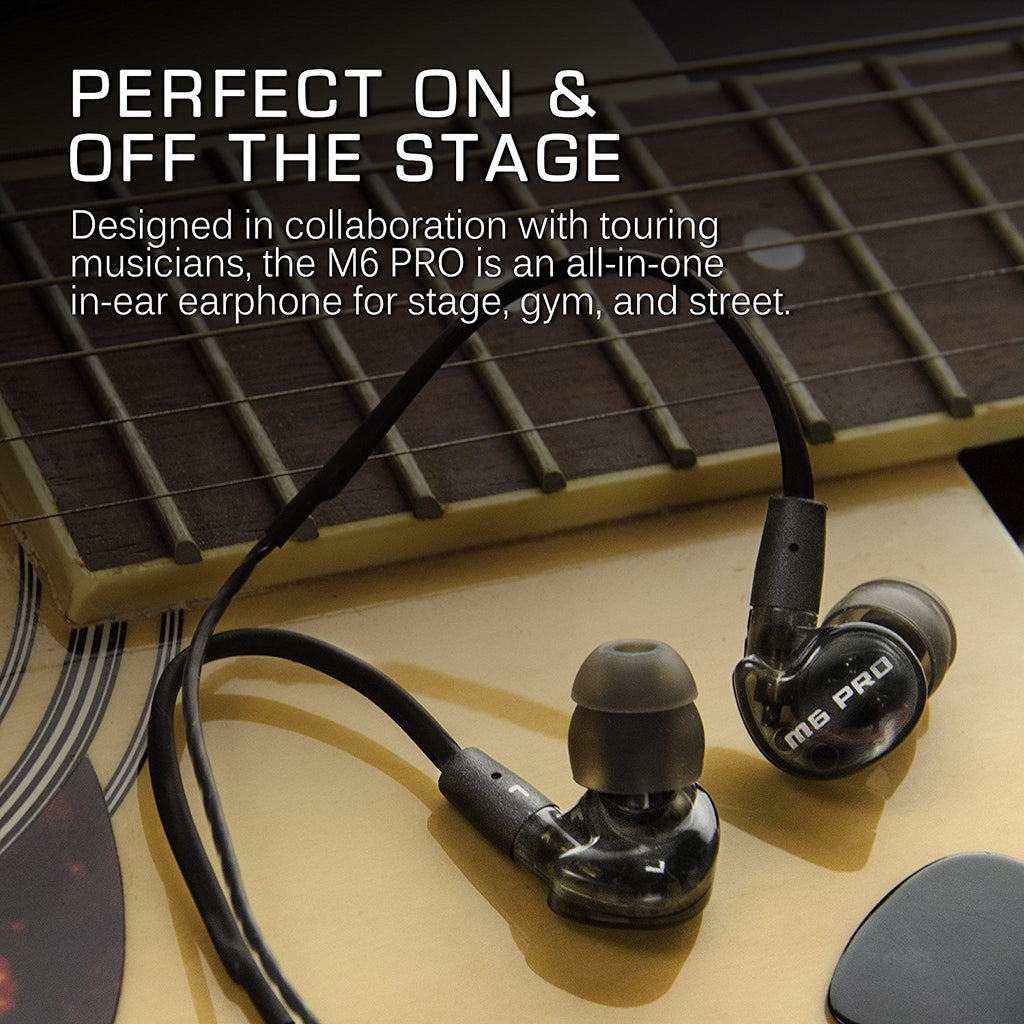MEE audio M6 PRO Universal-Fit Noise-Isolating Musician's In-Ear Monitors with Detachable Cables