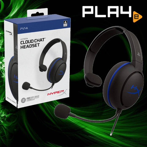 PS4 HyperX Cloud Chat Headset - Blue