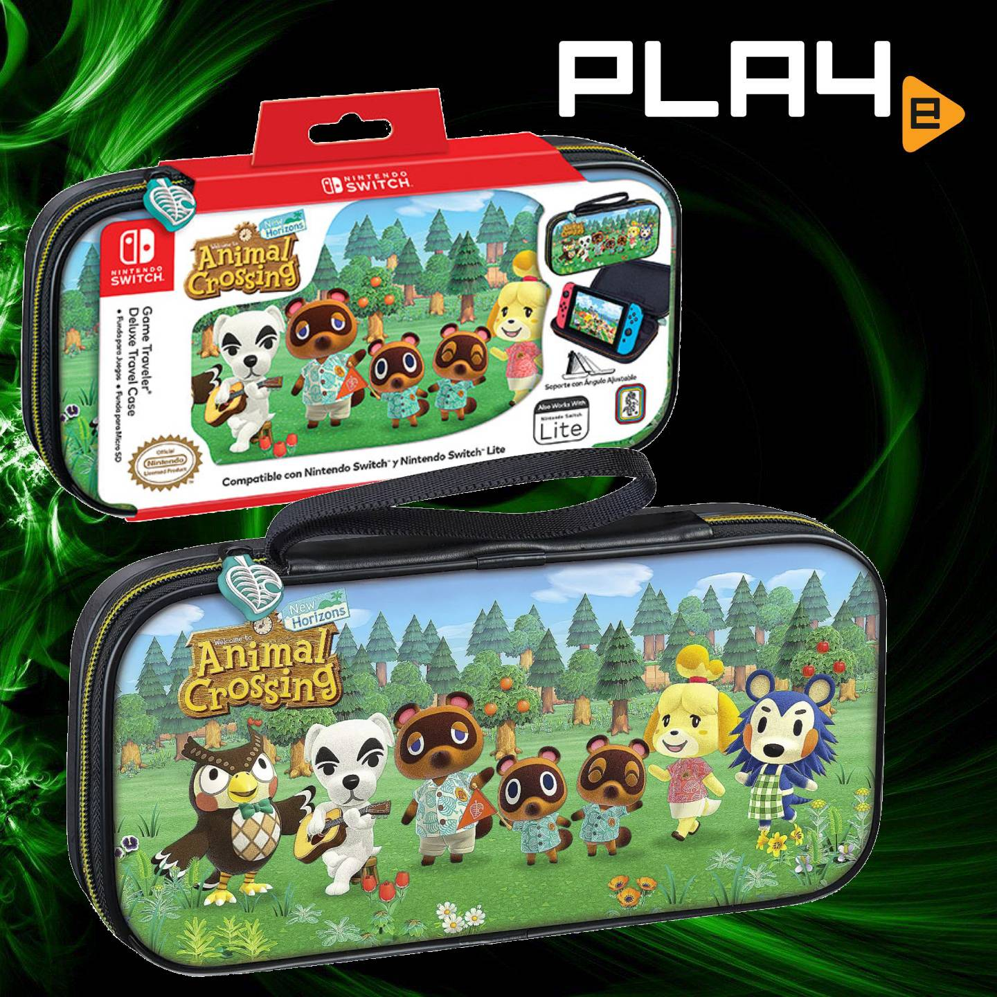 Nintendo Switch Lite Animal Crossing Deluxe Travel Case Playe