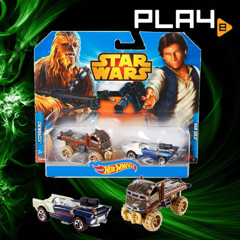 Star Wars Hot Wheels Han Solo and Chewbacca Set