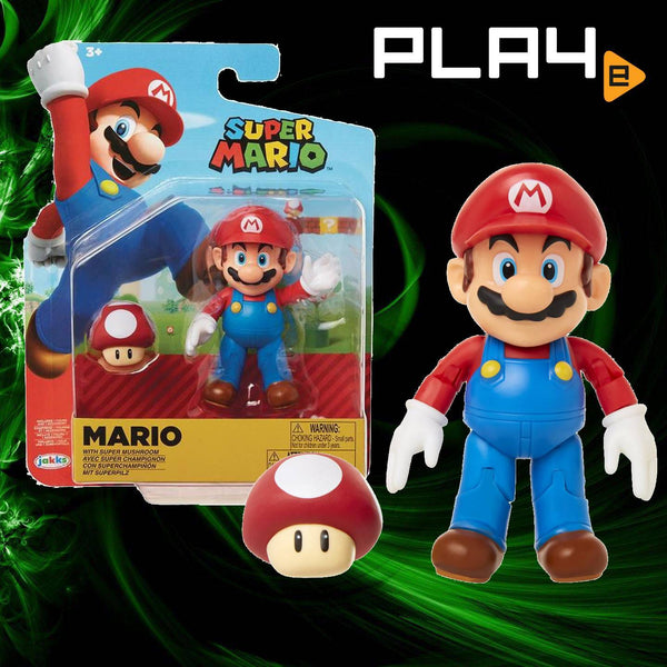 "World of Nintendo 4"" FIG W19 Mario with Mushroom"