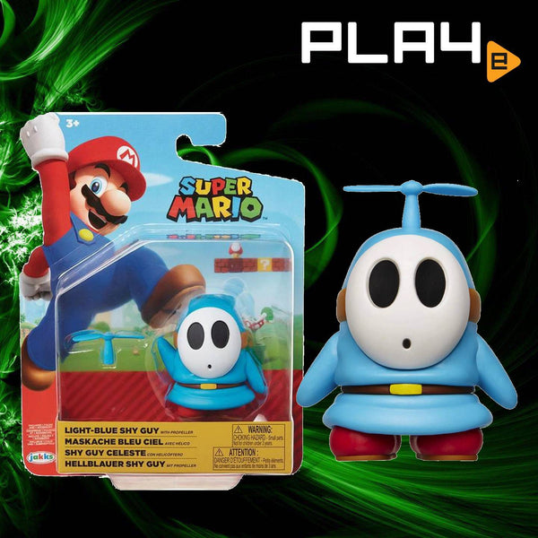 "World of Nintendo 4"" FIG W19 Light Blue Shy Guy"