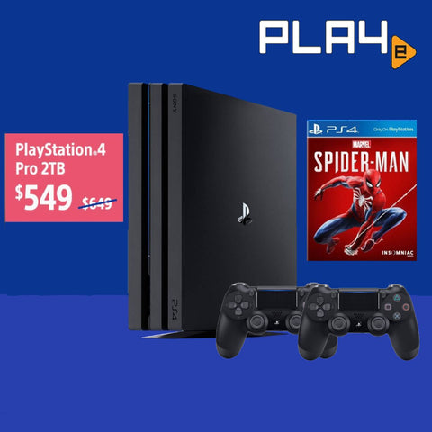 PS4 Pro 2TB Black Console (1 Year Sony Warranty)
