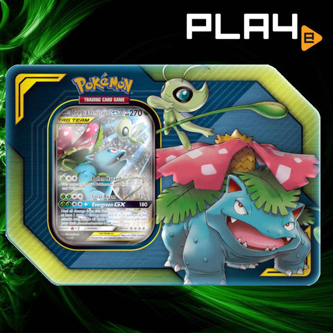 Pokemon Tag Team Tin Celebi Venusaur GX