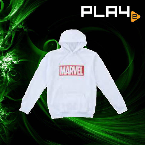 SEGA Plaza Marvel Mens Hoodies - White