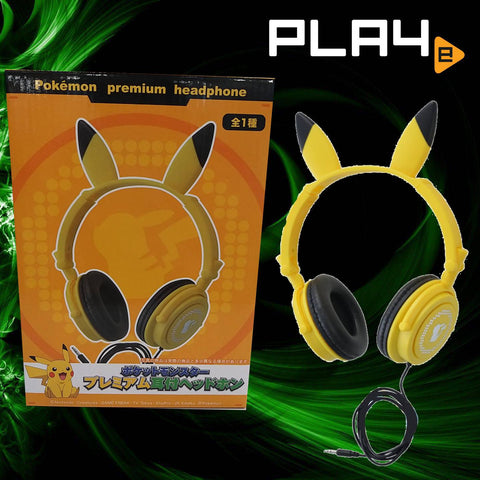 SEGA Pokemon Premium Headphone Pikachu Design
