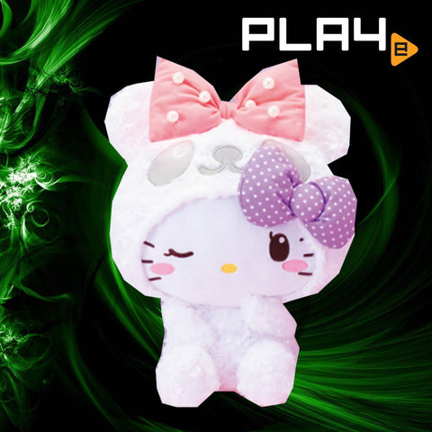 Panda Hello Kitty Furry White Wink Eye