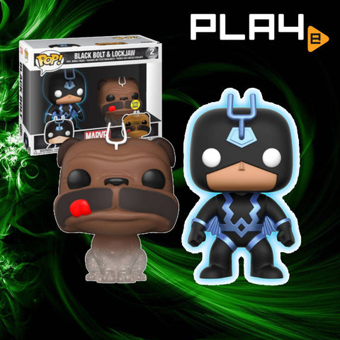 Funko POP! Lockjaw & Glow-in-the-Dark Black Bolt