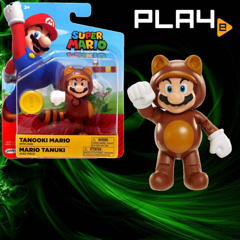 "World of Nintendo 4"" Fig W16 Tanooki Mario"