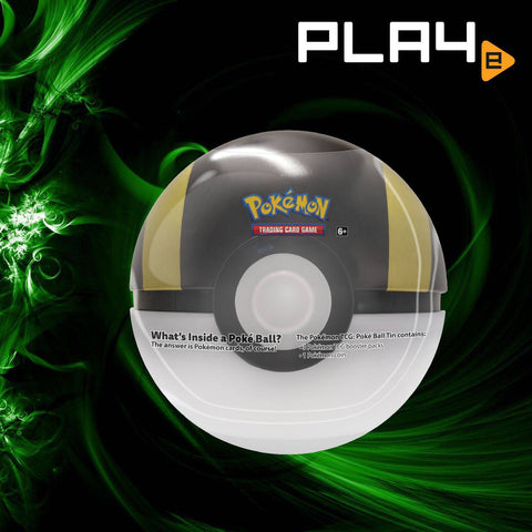 Pokemon TCG Pokeball Tin - Black/Gold