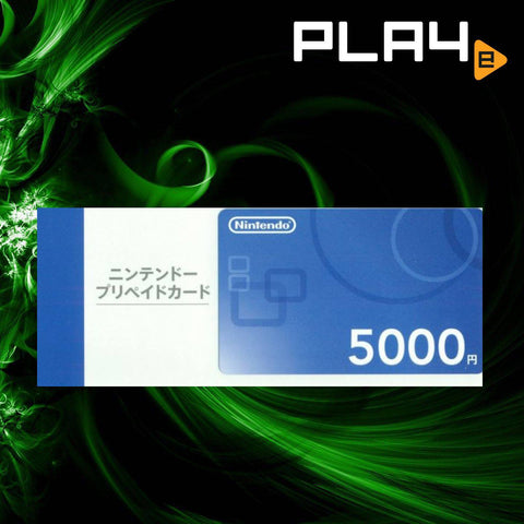 Nintendo Point Card For Japan 5000 Yen