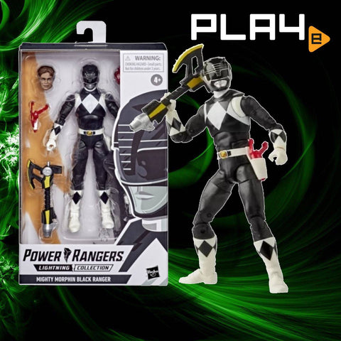 "Power Rangers Lightning E5906AS05 6"" Black Ranger"