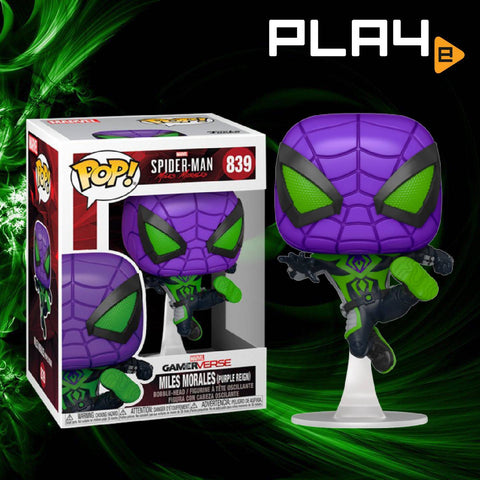 Funko POP! (839) Spider-Man Miles Morales Game Metallic