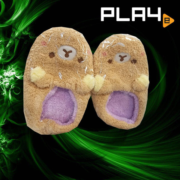 Rilakkuma 1 Size Furry Slippers - Brown
