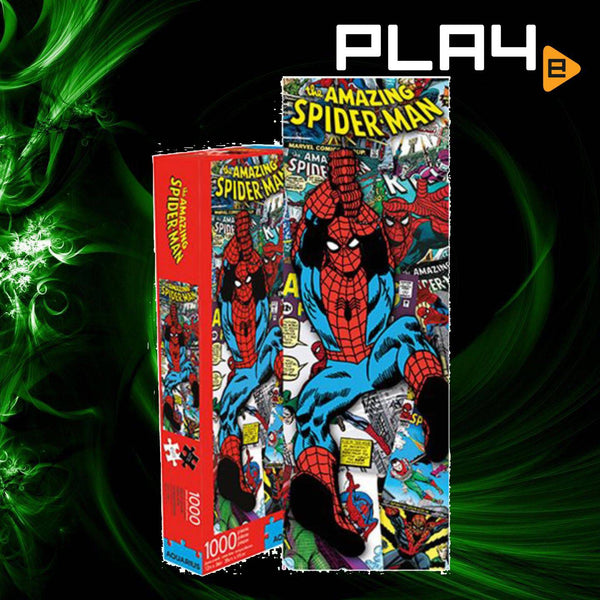 Spider-Man Comic Collage Slim 1000-Piece Puzzle