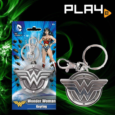 Wonder Woman Logo Pewter Key Chain