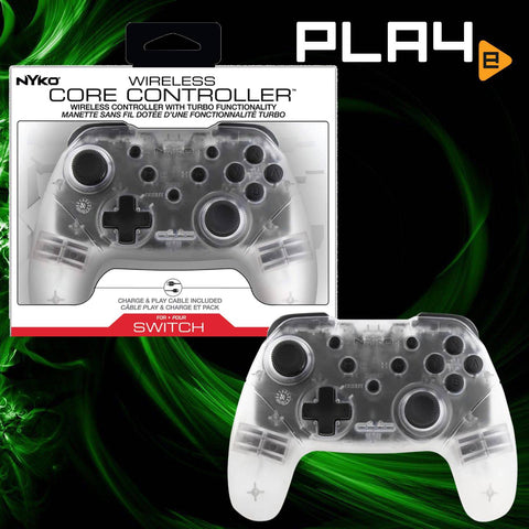 Nintendo Switch Nyko Wireless Core Controller - Clear