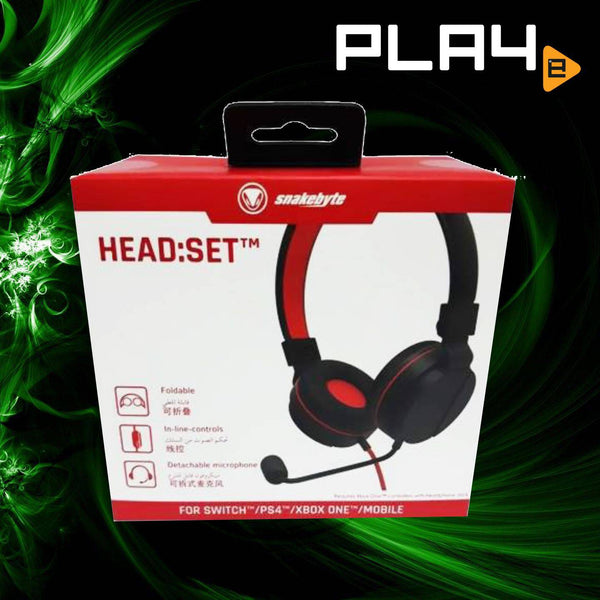 Nintendo Switch Snakebyte Headset (For PS4/XBox One/NSW/Phone)