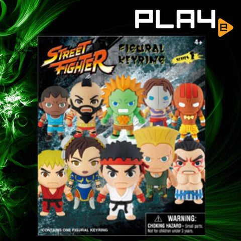 Street Fighter 3D Figural Key Chain blind bag