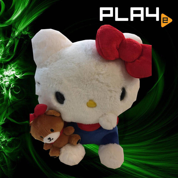 "Hello Kitty 12"" Plush - Holding Teddy Bear"