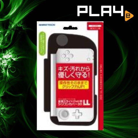 3DS LL Game Tech Silicone Slide Pad Black