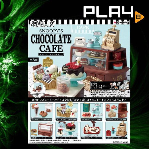 Re-Ment Snoopy's Chocolate Cafe (Set of 8)