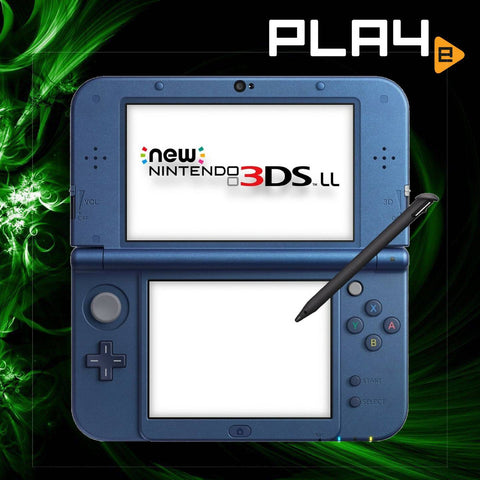 3DS LL New Console Metallic Blue (without adaptor)