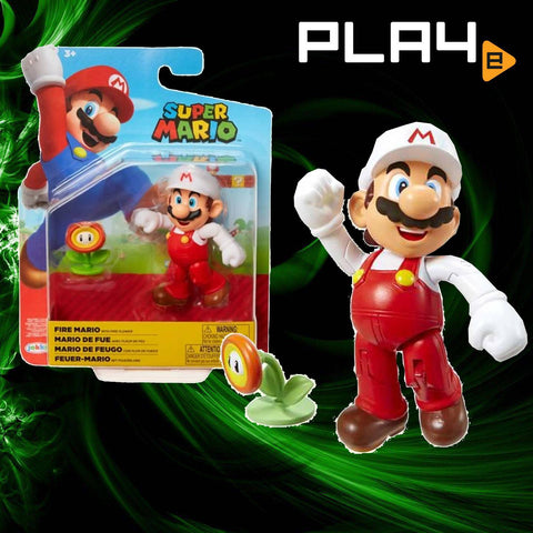 "World of Nintendo 4"" Fig W18 Fire Mario"