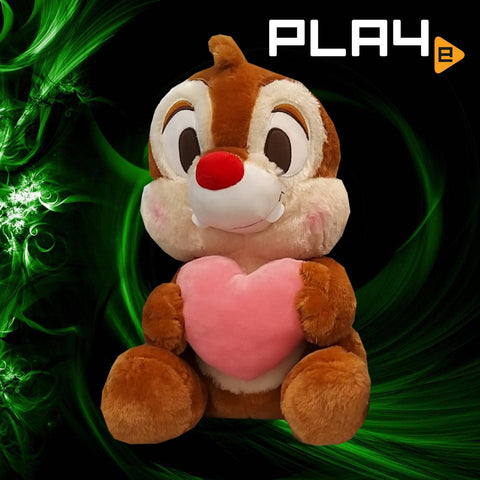 "Chip & Dale with Heart 15"" - Dale Red Nose"